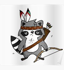 Apache The Raccoon Poster