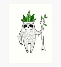 King of Sloth Art Print