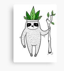 King of Sloth Canvas Print