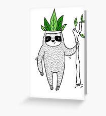 King of Sloth Greeting Card