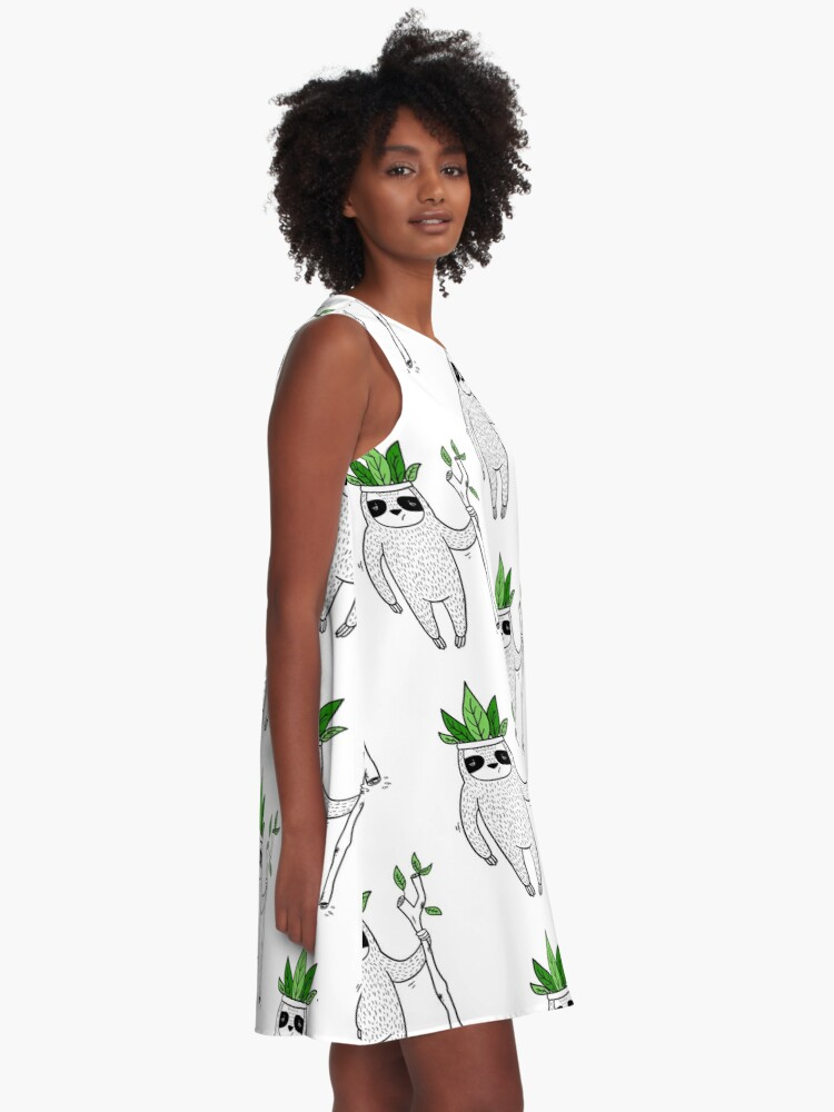 Alternate view of King of Sloth A-Line Dress