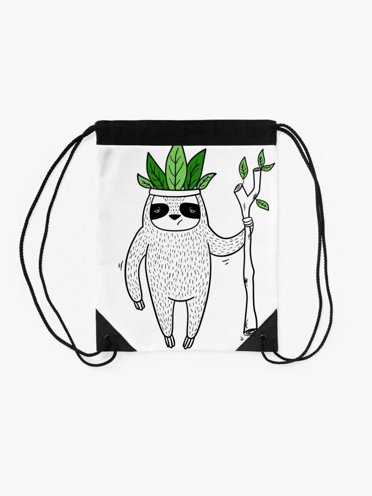 Alternate view of King of Sloth Drawstring Bag