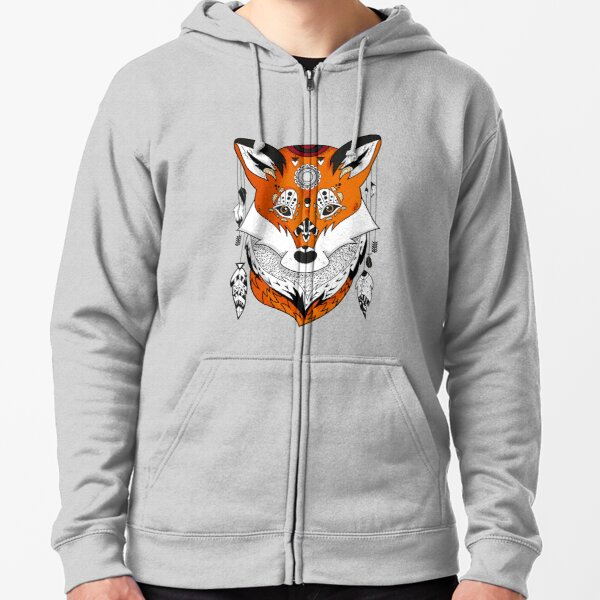 Fox Head Zipped Hoodie