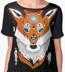Fox Head Chiffon Top