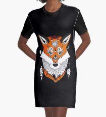 Fox Head Graphic T-Shirt Dress