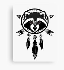 Raccoon Catcher Canvas Print