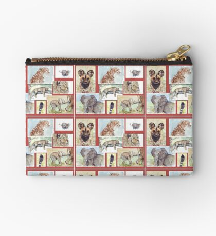 Lodge décor – South African wildlife collection Zipper Pouch