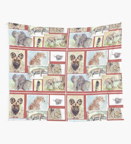 Lodge décor – South African wildlife collection Wall Tapestry