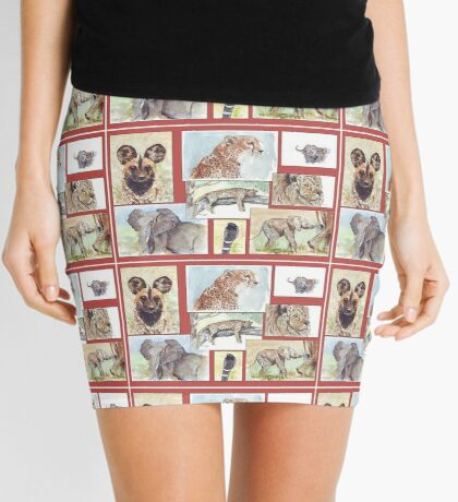 Lodge décor – South African wildlife collection Mini Skirt