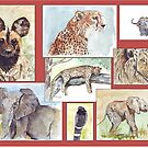 Lodge décor – South African wildlife collection by Maree Clarkson