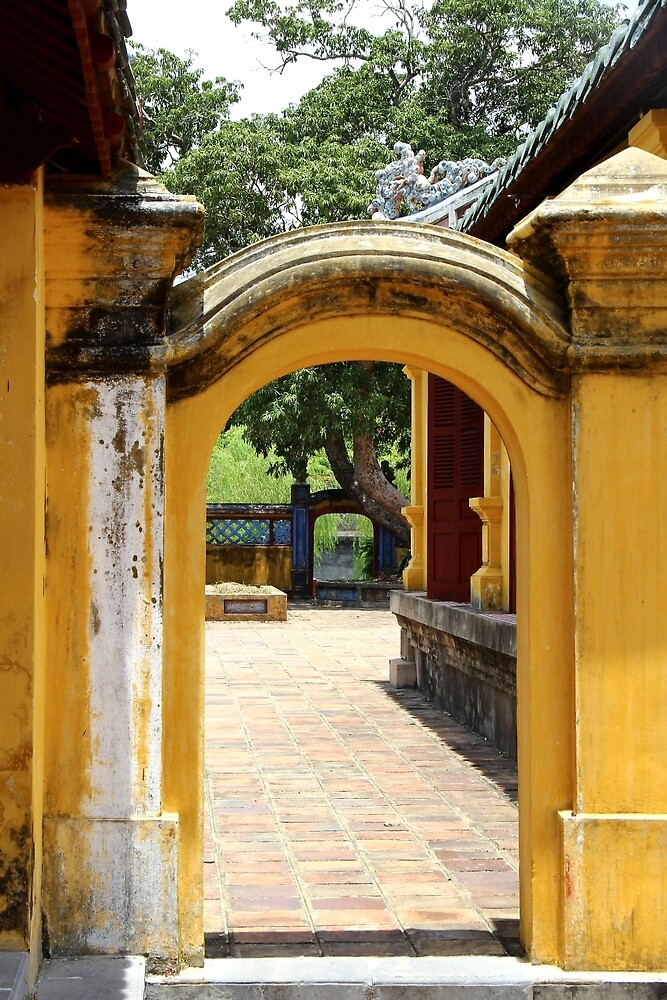 Glimpse of the Imperial City III - Hue, Vietnam. by Tiffany Lenoir
