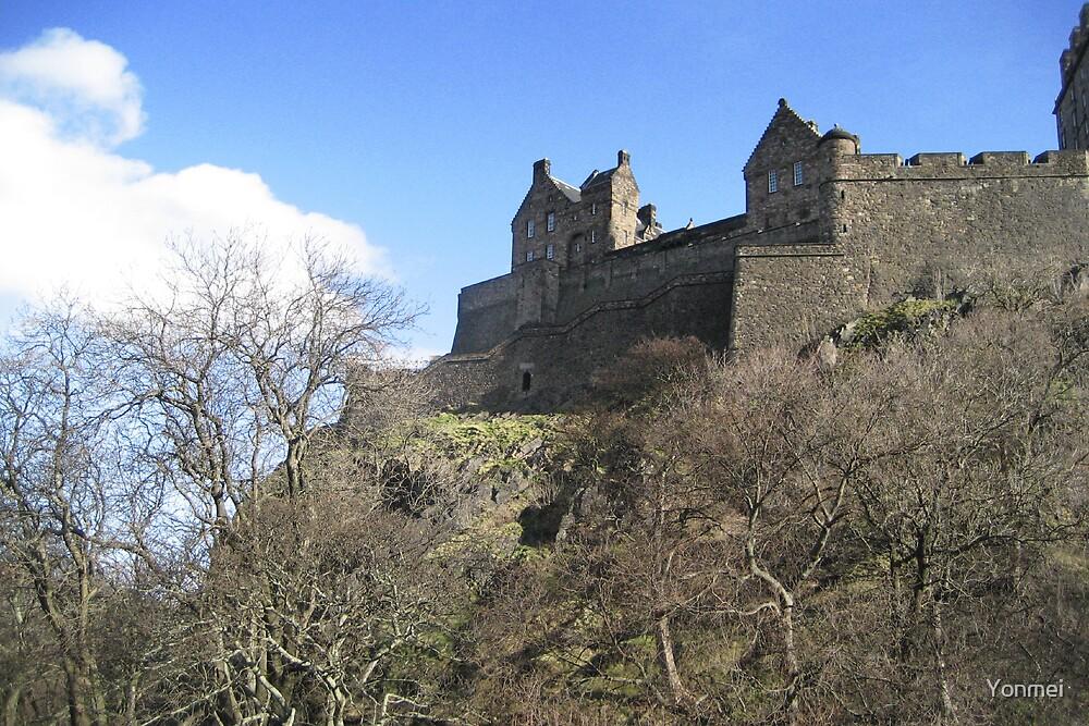 Edinburgh Castle from Castle Terrace by Yonmei