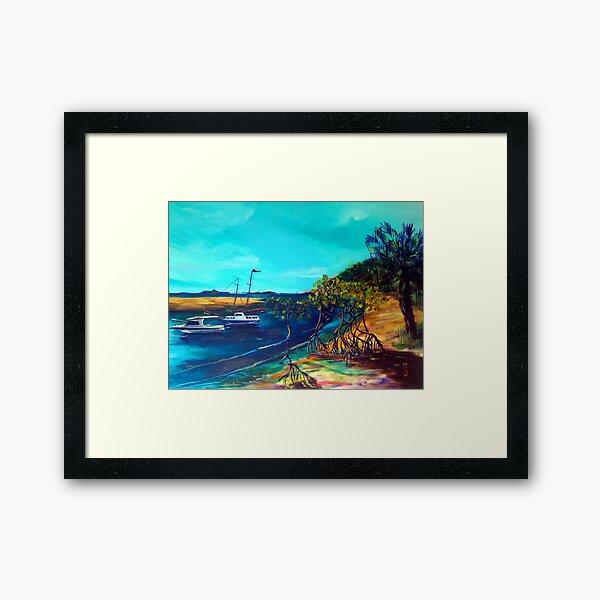 dancing mangroves Framed Art Print