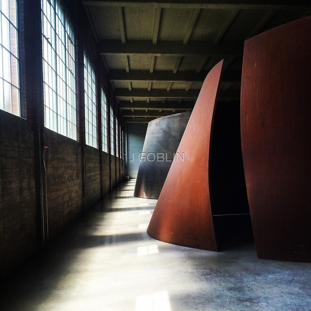 Richard Serra - Torqued Ellipses  by J GOBLIN