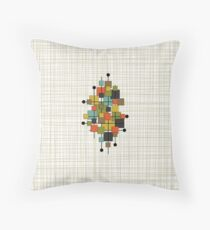 Mid Century Modern Squares (bkgrnd) Throw Pillow