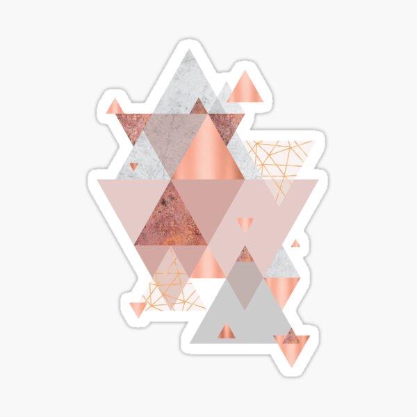 Blush Pink Geo Sticker