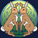 Ysgyfarnogod | Hares by Aakheperure