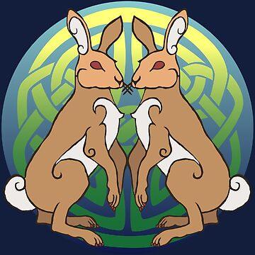 Ysgyfarnogod   Hares by Aakheperure