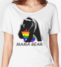 Gay Pride Mama Bär Loose Fit T-Shirt