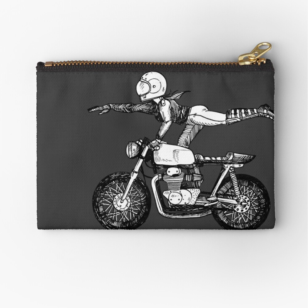 Women Who Ride - Superwoman Zipper Pouch