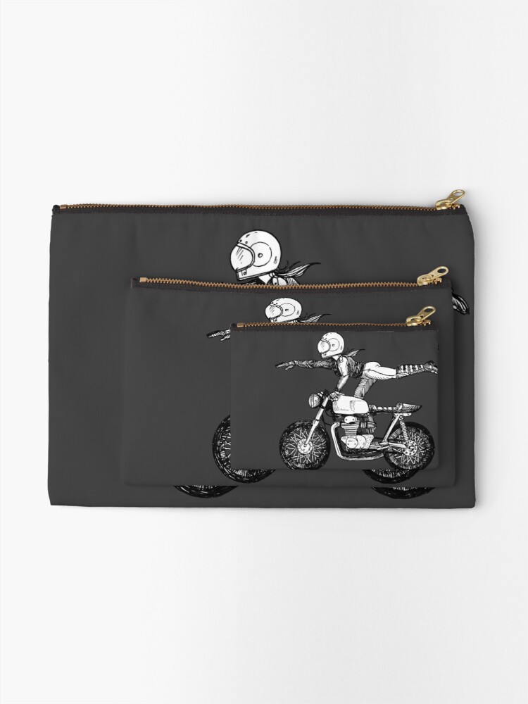 Alternate view of Women Who Ride - Superwoman Zipper Pouch