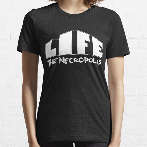 Life The Necropolis Logo Black. Essential T-Shirt