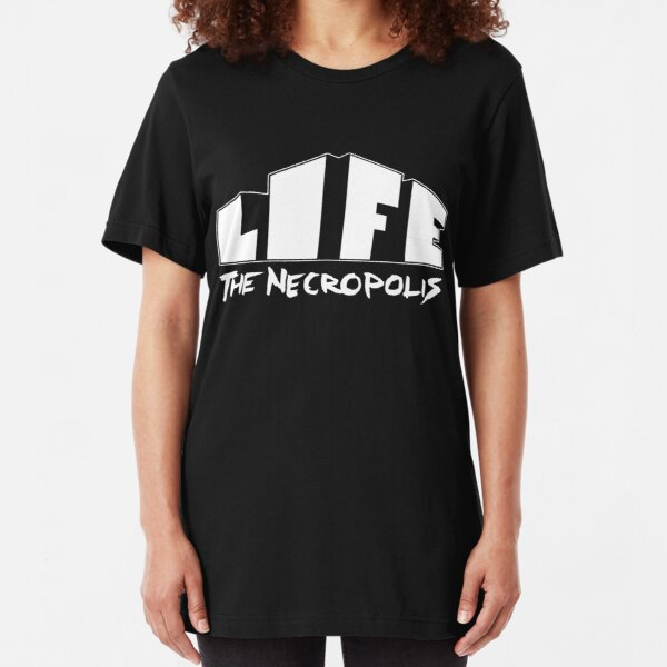 Life The Necropolis Logo Black. Slim Fit T-Shirt