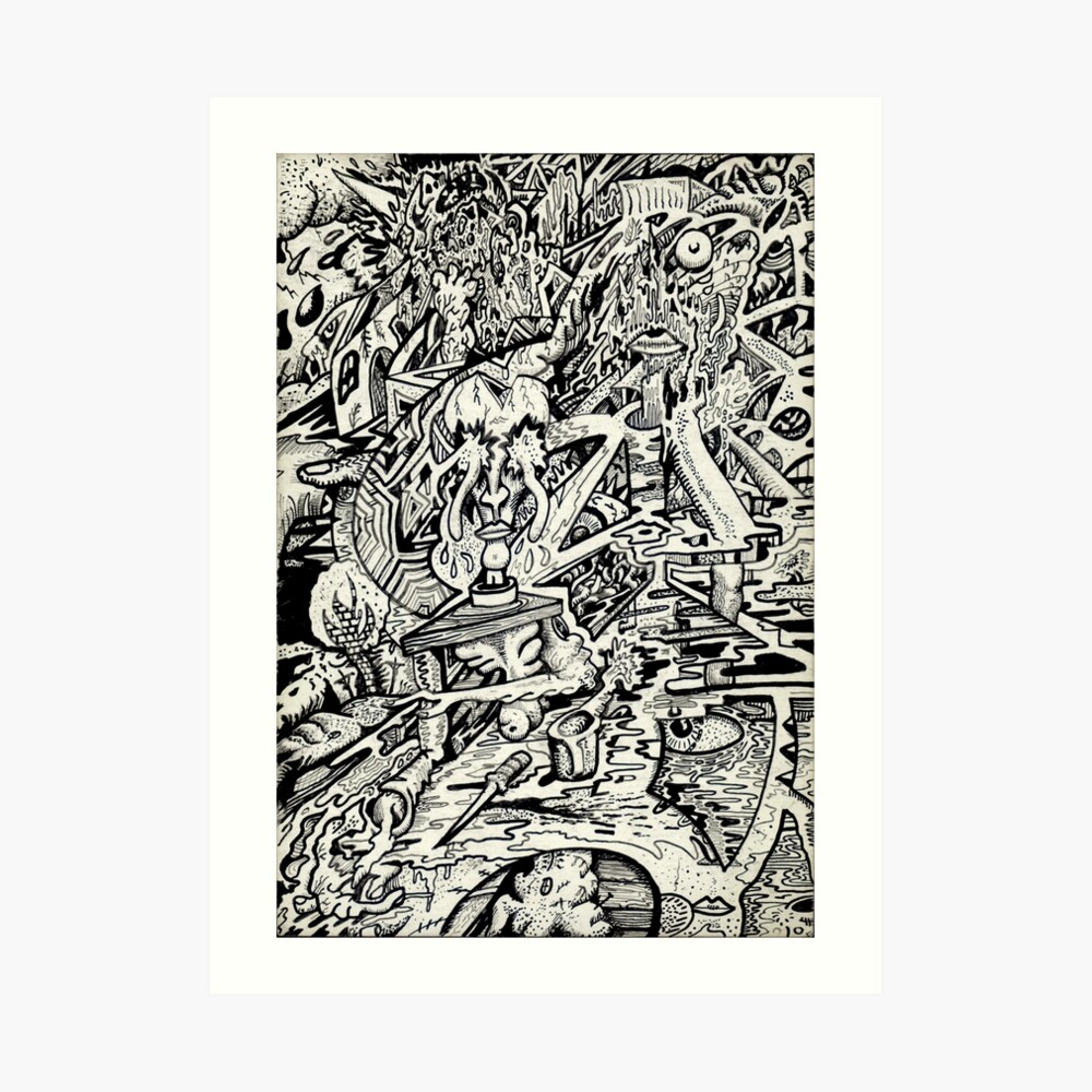 The Adept, or a freakish transfiguration. Art Print