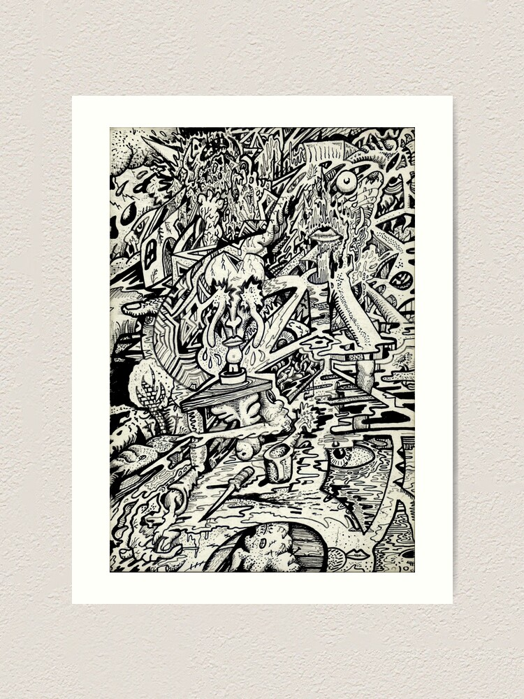 Alternate view of The Adept, or a freakish transfiguration. Art Print