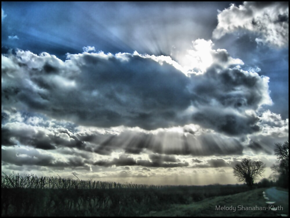 Clouds and sun by Melody Shanahan-Kluth