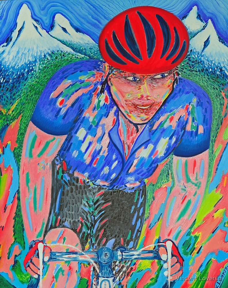 Mountain Trek King Of The Mountain Le Tour De France by Vincent Loverso