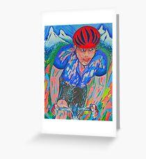 Mountain Trek King Of The Mountain Le Tour De France Greeting Card