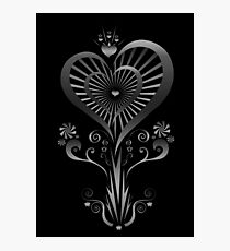Heart Flower - Silver Photographic Print