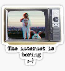 Mars Argo The internet is boring Vintage TV Sticker