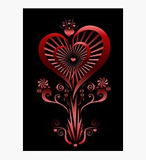 Heart Flower Photographic Print