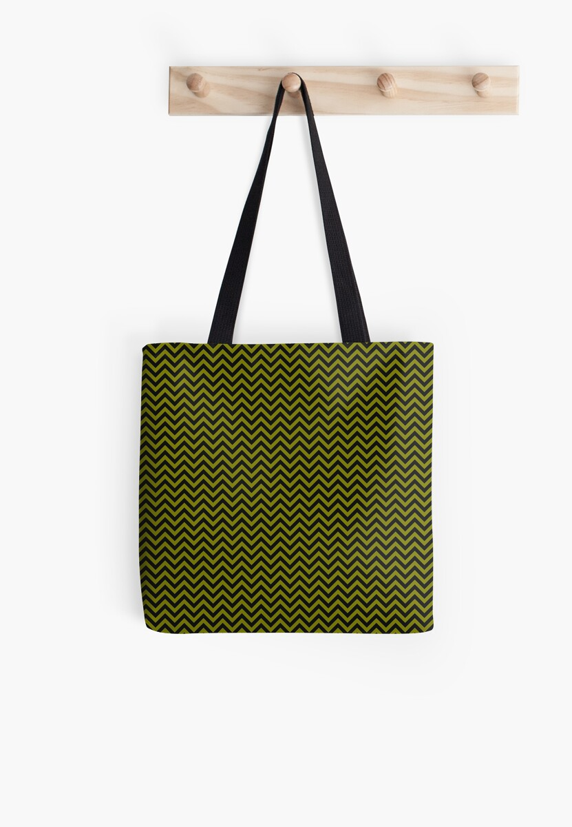 Green and Black Chevron by indepthdesigns