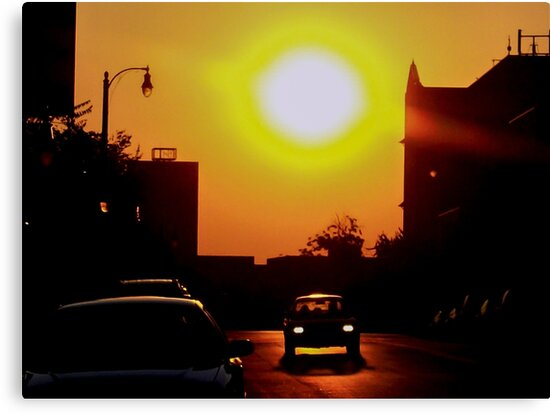Sunset on East 11th Street by dm-photography