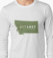 Get Lost in Montana MT State Decal T-Shirt
