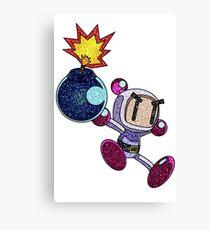 Glitter Bomberman Canvas Print