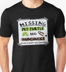Missing turtle and nunchucks TMNT parody T-Shirt