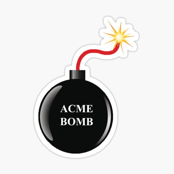 La bombe Acme de Roadrunner Sticker