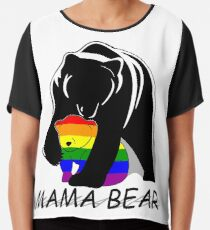 Gay Pride Mama Bär Chiffontop