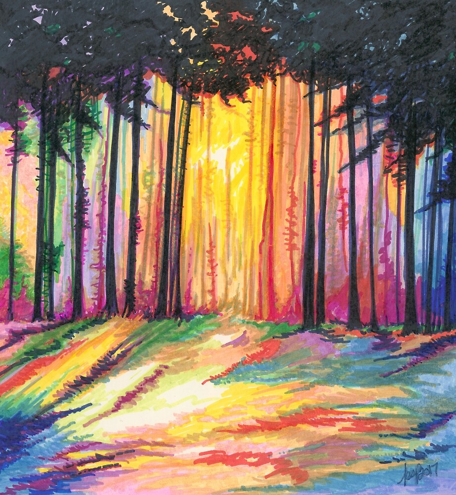 Paint The Forest by The Art of Krista S. Payne