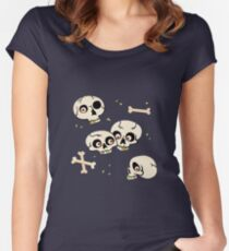 Skullery pattern Women's Fitted Scoop T-Shirt