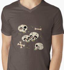 Skullery pattern Men's V-Neck T-Shirt