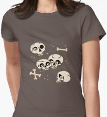 Skullery pattern Womens Fitted T-Shirt