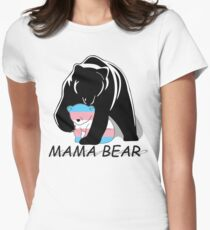 Transgender Pride Mama Bear Women's Fitted T-Shirt