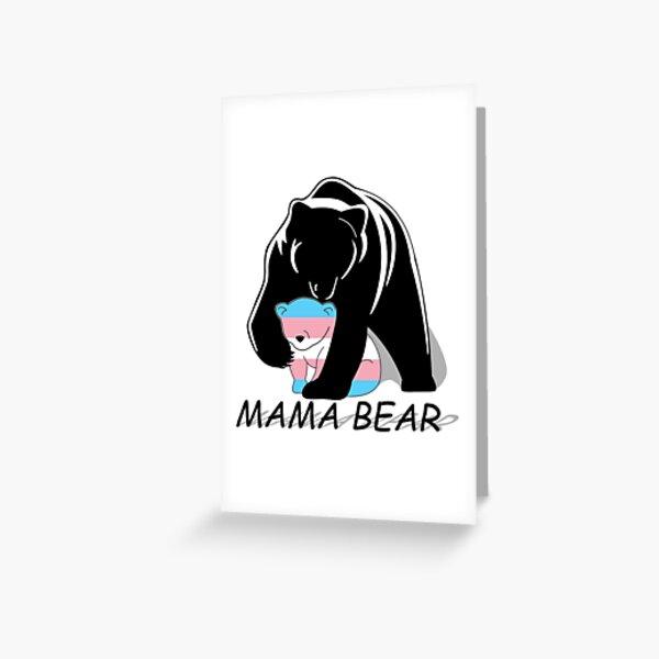 Transgender Pride Mama Bear Greeting Card