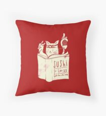 Sushi For Cats Throw Pillow