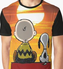 sunset carly snoopy Graphic T-Shirt